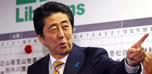 Thủ tướng Abe và Liên minh giành thắng lợi áp đảo tại cuộc bầu cử Hạviện