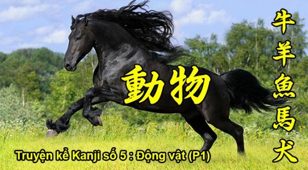 Truyện kể Kanji số 5: Động vật(P1)