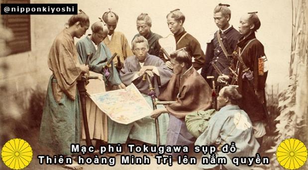 Mạc phủ Tokugawa sụp đổ. Thiên hoàng trở lại nắmquyền.