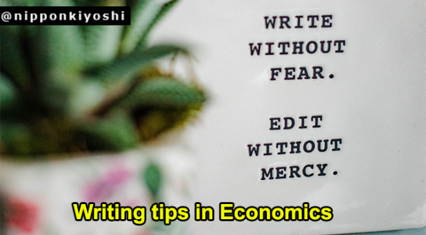 Writing tips in Economics